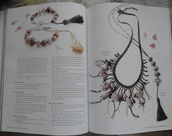 Bracelet, Handmade Beads, Hand Painted, Original, Clay Beads, Tribal, Bohemian, Artwork Stamped, Monicaj
