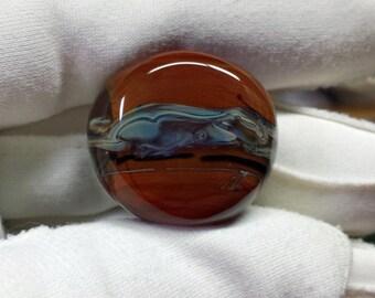 Dreadlocks Big Hole Lampwork Glass Bead Desert SRA