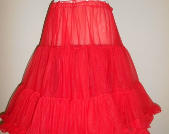Vintage womens clothing clothes crinoline petticoat FLUFFY can can   red      rockabilly