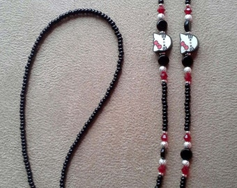I Love my Cat Handmade Beaded Eyeglass Chain