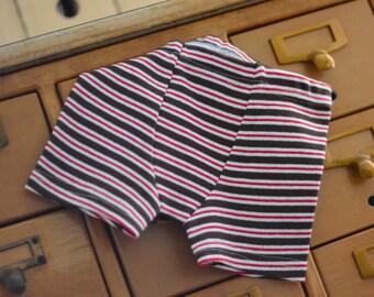 Chocolate / Cherry Stripes - kids' custom boxer briefs   (made to order)