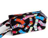 Boxy Bag Knitting Project Bag - Jazzed up Socks