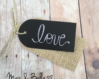 Blank Chalkboard Tags - Mixed Media, Blank Tags, Escort Tags, Wedding Tags, Party Favor, DIY Chalkboard, Mixed Media - Set of 12