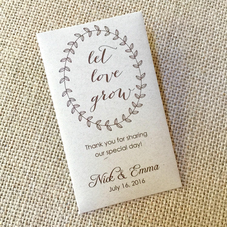 diy custom seed packet wedding favors custom envelope kraft
