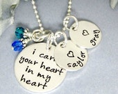 Personalized Necklace - I Carry Your Heart In My Heart Necklace - Mothers Necklace - Kids Name Birthstone Necklace - Personalized For Mom