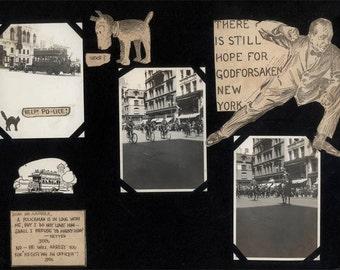 vintage photo 1915 Godforsaken New York City Police Bicyles Comic Claremont Theater 135th St