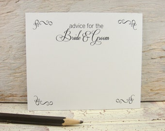Wedding Advice Card Printable - Advice for Bride and Groom - INSTANT DOWNLOAD