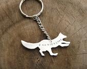 I am not a Coat Fox Keychain