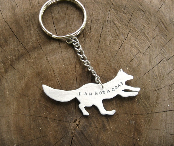 I am not a Coat Fox Keychain