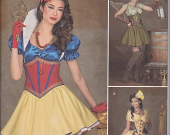 Simplicity 1093 Misses Cosplay Steampunk Snow White Princess Fairy Wild West Costume Sewing Pattern Sizes 6-14 New UNCUT