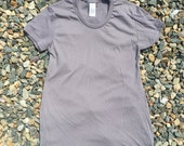 Stylish and soft blank maternity t-shirt in Grey (Made in USA)