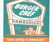 Burger Chef - Mad Men Tribute Screen Print by Print Mafia