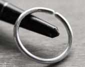 16mm 16g Silver Conch Hoop / Earrings - 16mm Endless Hoops for conch piercing in 16 gauge solid sterling silver