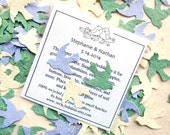 100 Love Birds Seed Wedding Favors - Plantable Flower Seed Paper Birds Confetti Doves - Sage Green Cream Lilac Seed Paper and more