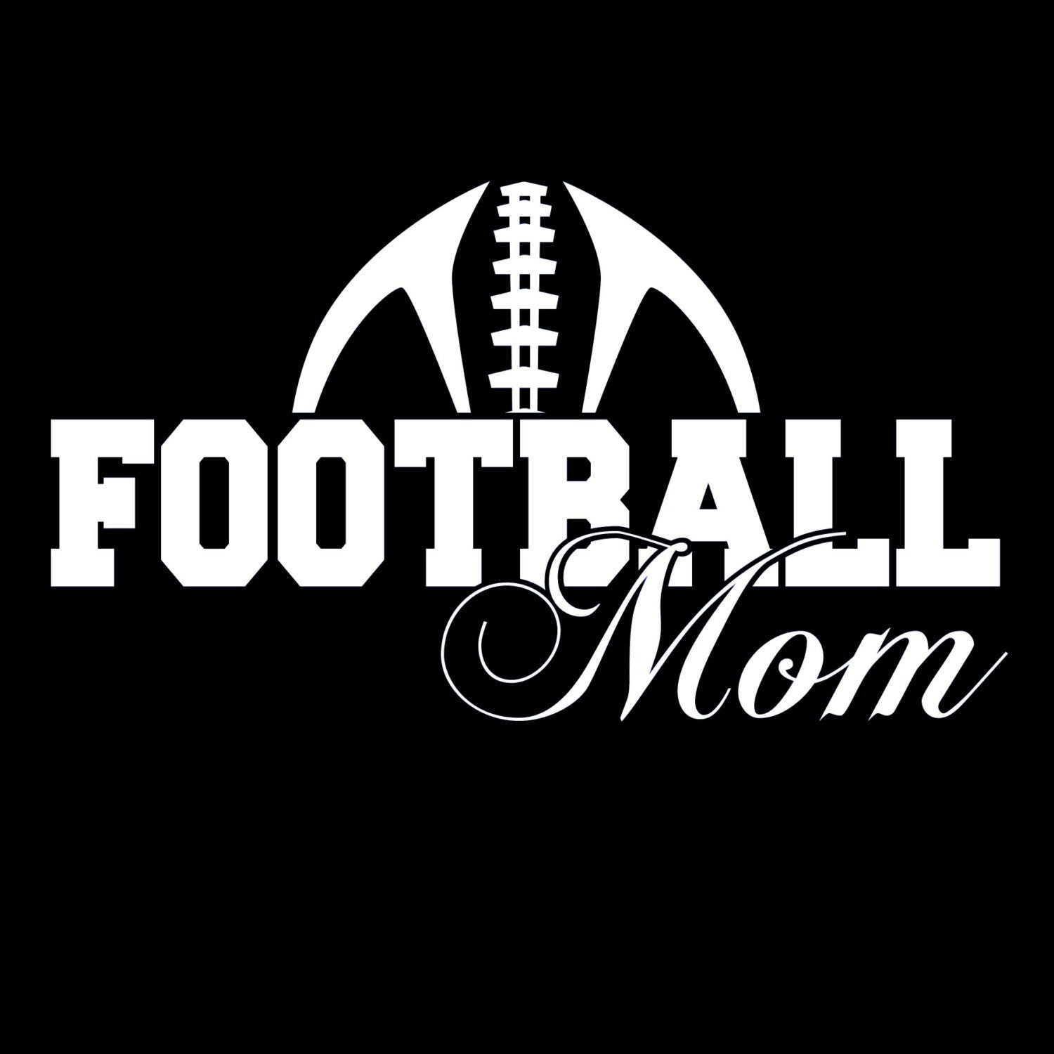 Football mom shirt black with saying funny cool free for Football team t shirt designs