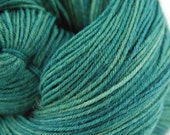 "Wonder Sock yarn - ""Seaweed""- superwash Blueface wool and nylon 465 yards 3.5 ounces"