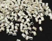 Silver Crimp Tubes - 1 x 2mm - 250
