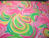 """Lilly Pulitzer fabric Spring 2015~""""MULTI  ALL NIGHTER""""~ Dobby Cotton~ 18"""" by 18"""""""