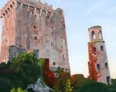 Blarney Castle Ireland landscape acrylic painting Giclee Reproduction 11x16