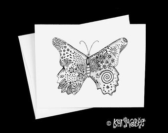 Butterfly Note Card Butterflies Notecard