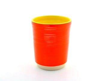 Tumbler Bright Orange and Sunshine Yellow