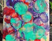 Encaustic jellyfish - encaustic wax painting