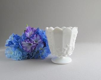 Vintage Milk Glass Planter, Milk Glass Vase, Wedding Vase, Milk Glass Flower Pot, Wedding Decoration, Westmoreland Glass
