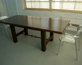 Custom H-Leg Farm Table with Iron Turnbuckle