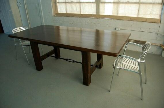 Custom H-Leg Farm Table with Iron Turnbuckle