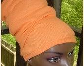 Headband-HeadTube-Locs-Dreadlocks-Natural Hair Accessories-Orange-Tangerinc