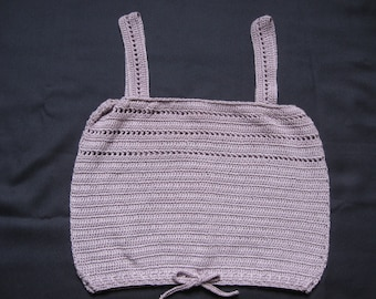 Lavender Tank/Camisole Top Hand Crocheted