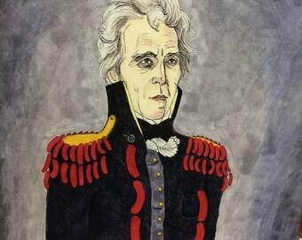 Andrew Jackson Bedecked in Wieners print