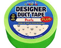 Duct Tape - with Stick-On Pearls - Green - 10 yards