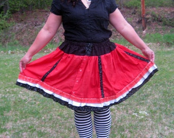 Repurposed Men's Shirt Gothic Lolita Skirt by Erikas Chiquis
