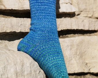 Andromeda Gradient Stripes Matching Socks Set, 2-50g Cakes, Greatest of Ease (dyed to order)