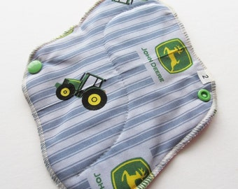 Cloth Mama Pad / Reusable Cloth Pad  - John Deere Printed 8 Inch FREE Shipping