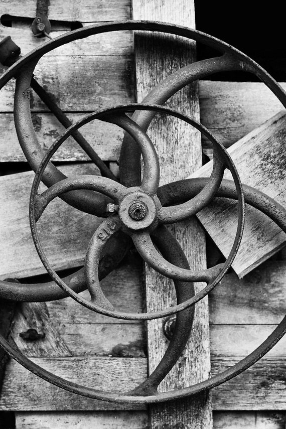 Historical Mechanical 01 - Black and White Fine Art Photograph