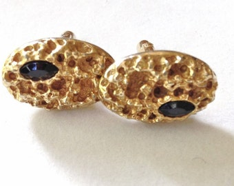 Modernist Cuff Links Biomorphic cufflinks Gold Vintage Repousse