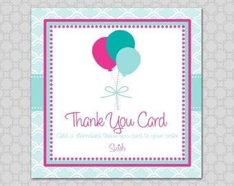 Thank You Card - Add a matching thank you card - Printable digital 5x7, 4x6 or standard folded card
