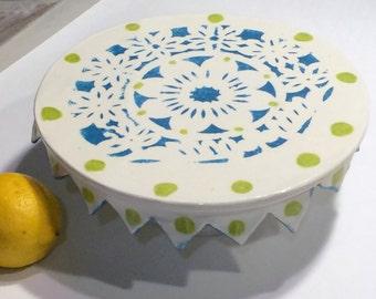 Fiesta Cake Plate