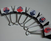 Teacher BINDER CLIPS Days of the Week NAUTICAL
