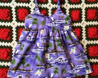 Tropical Toddler Dress 3/4