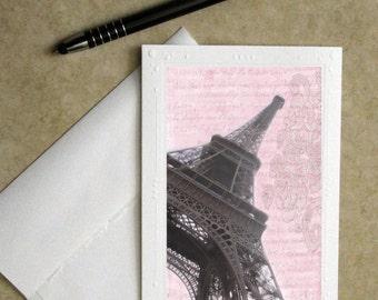 Paris photo notecard, Mother's Day card, Eiffel tower greeting card, greeting card, photo card, Paris greeting card, Eiffel tower stationary