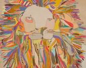Lion Star Paper Print by Jennifer Mercede 11X14