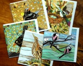 Your Choice of 5 Blank Greetings Card - Note Card Set - Mosaic Art - Over 50 designs available