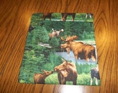 Large Microwave Potato Bag Moose Great Outdoors All Cotton Fabric and Thread