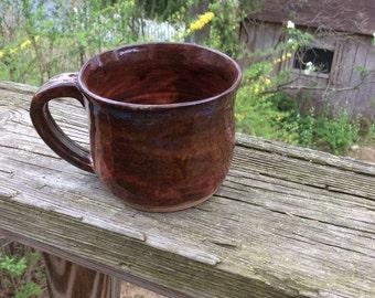 BROWN MUG-handmade ceramic, pottery, ready to ship M9