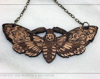 Death's Head Moth, Hawk Moth Pendant
