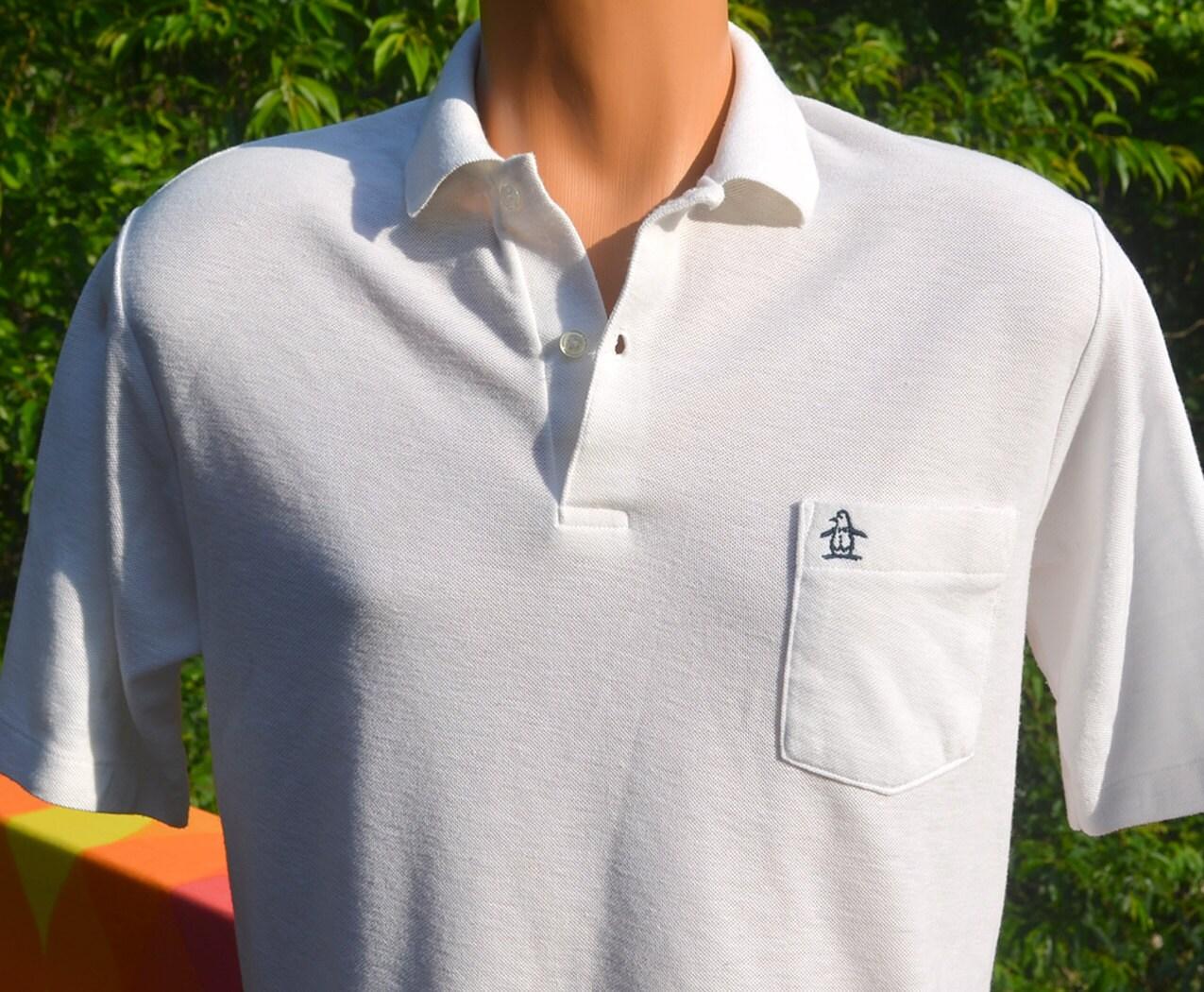 Vintage 70s golf shirt polo penguin pocket grand slam for Golf shirt with penguin logo