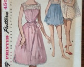 Lovely 1950's Simplicity Nightie and Panty Pattern #1553 Sz 14 Bust 32 - WV